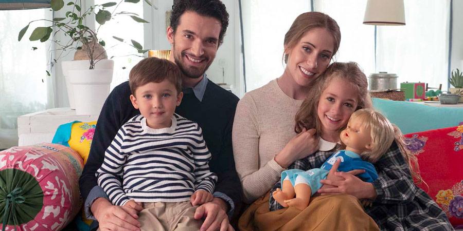 La famiglia dello spot 2019 di Cicciobello