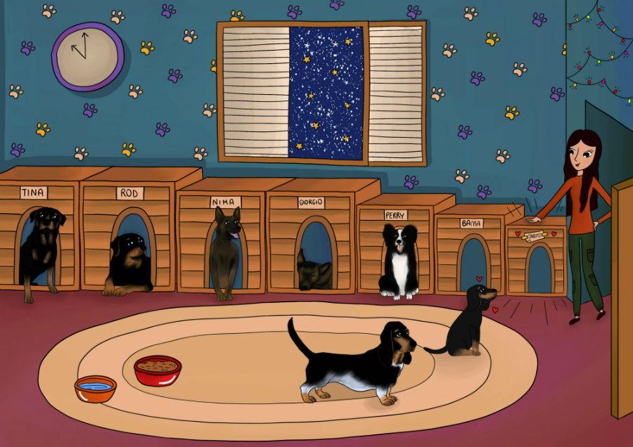 Candito incontra tutti i cagnolini di Pam