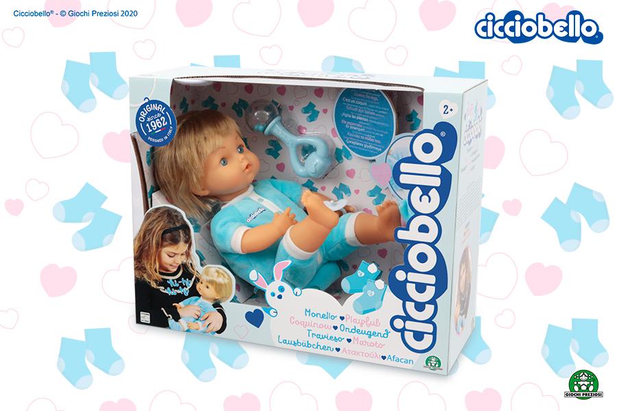 Cicciobello Monello, la bambola interattiva che sgambetta e ride.
