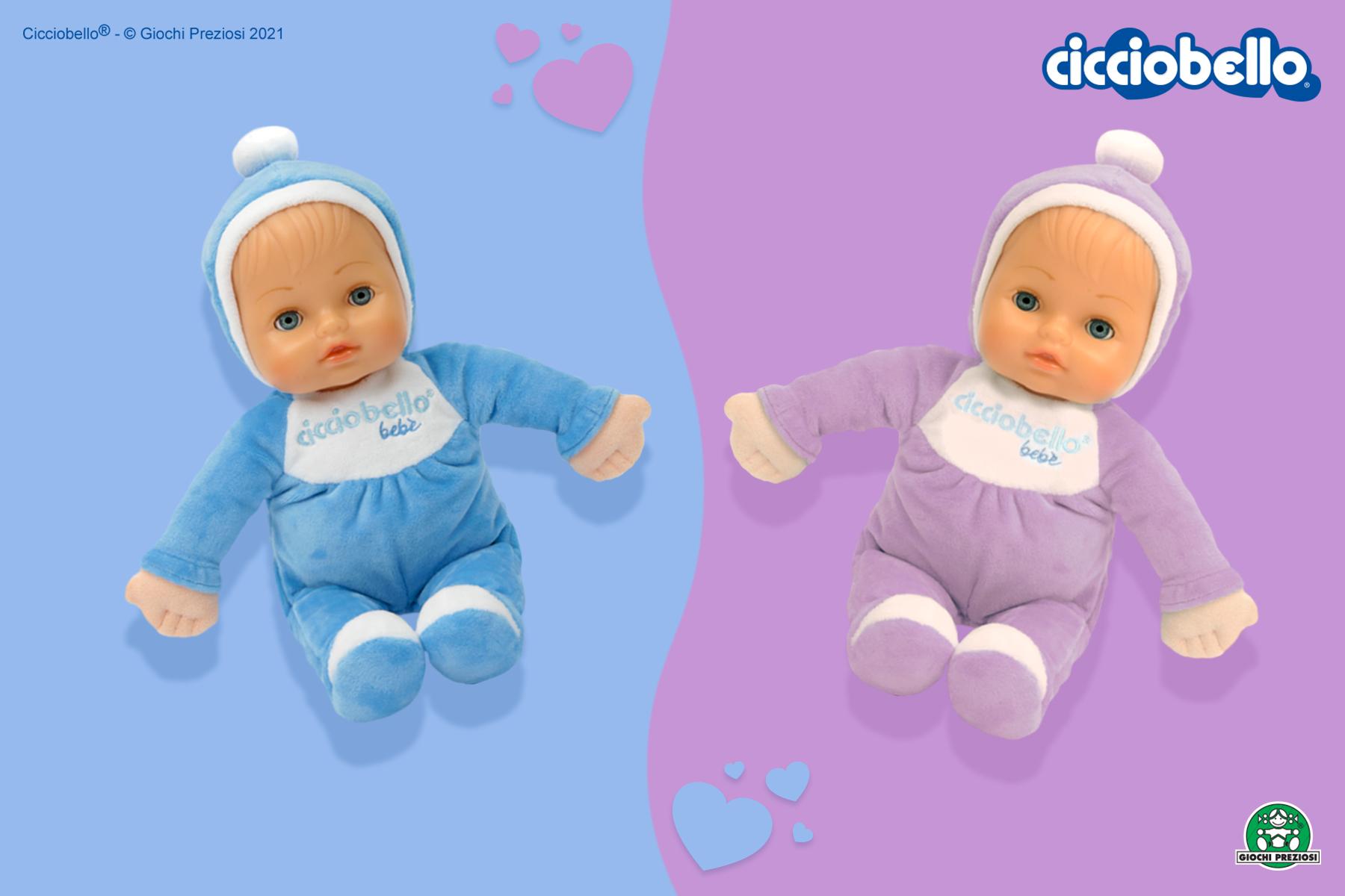 CiCicciobello Bebè Bellissimo Blu e Lilla