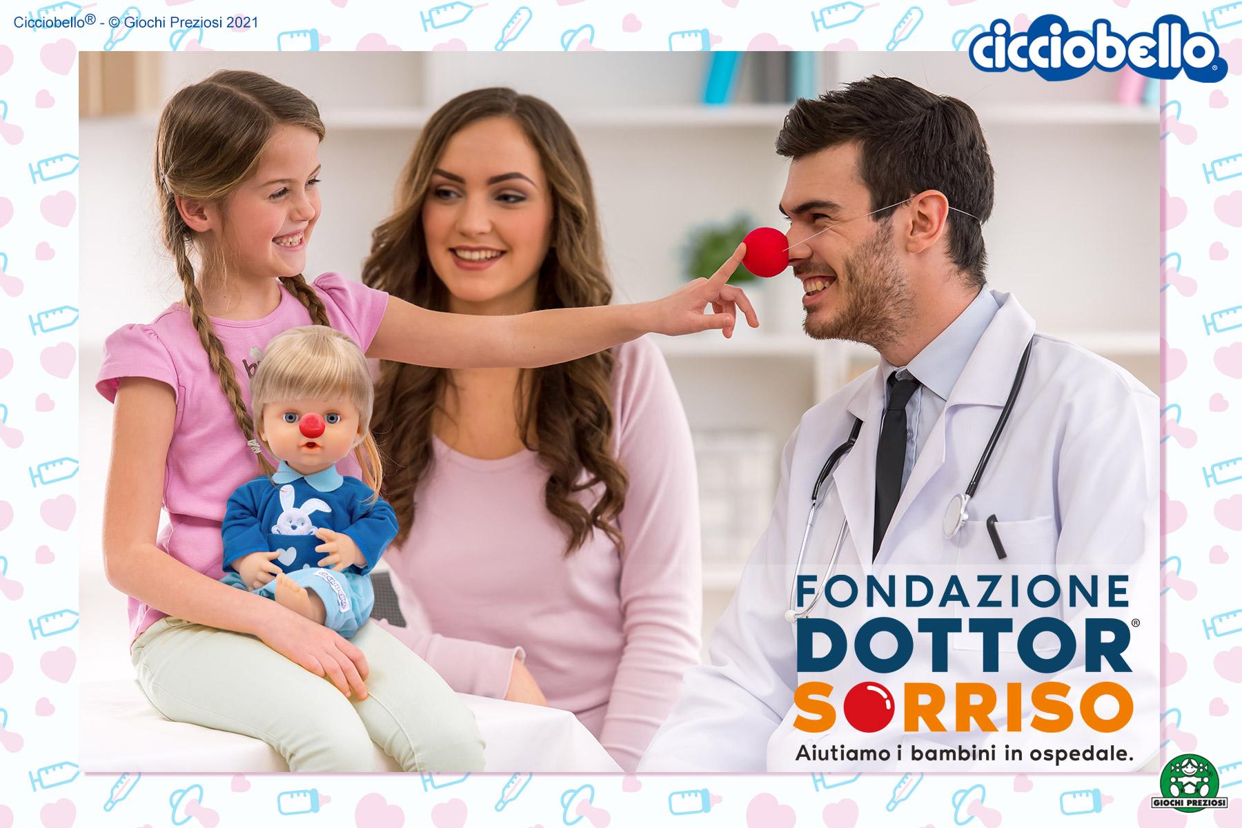Cicciobello, Dottor sorriso e piccoli pazienti durante la terapia del sorriso